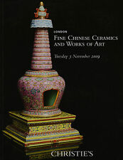 FINE CHINESE CERAMICS & WORKS OF ART including export art AUCTION CATALOGUE