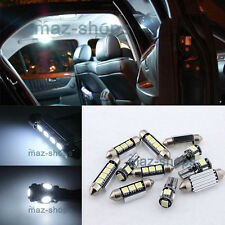 12PC White LED Light Interior Package kit Error Free for Audi A5 S5 8T 2008-2014