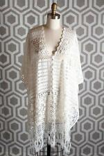 NWT Alice & Olivia Milena Crochet Poncho Top XS Small XS-S $485 Off White