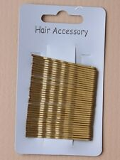 Card of 36 Hair Grips Blonde Bobby Pins Kirby Grips Slides Clips
