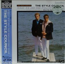THE STYLE COUNCIL Laserdisc What We did The Following Summer JAPAN LD OBI