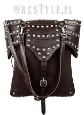 Restyle Brown Armor Steampunk Goth Punk Rocker Medieval Handbag Purse Bag