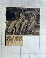 1949 Mayor Island Fishing Club New Zealand Showing Catch Of 4 Marlin