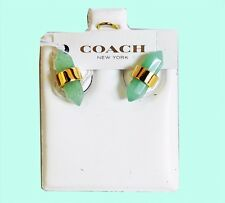 Authentic COACH Jade Amulet Studs Earrings Msrp $60.00 *NEW WITH TAG*