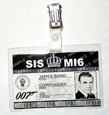 James Bond 007 ID Badge Sean Connery MI6 SI5 Prop Cosplay Fancy Dress Christmas