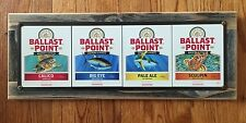 Ballast Point Beer Label Sculpin Big Eye Calico Pale Ale Wood Frame Metal Sign