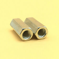 2 Pcs M10 x 1.25 Long Rod Coupling Hex Nut Stainless 304 Steel