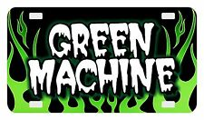 """4""""x7"""" ATV Motorcycle Personalized Custom License Plate Bicycle Tag Flames Green"""