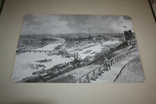 PITTSBURGH VINTAGE VIEW PRINT by C. GRAHAM THREE RIVERS AMERICAN IRON WORKS ?