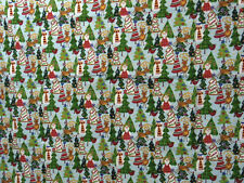 """Cheater Quilt Top Material By The Yard, X66,""""Christmas Theme"""""""