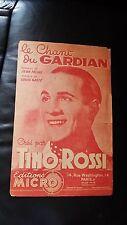 Ancienne partition - Le chant du Gardian - Tino Rossi - Jean Féline Gasté