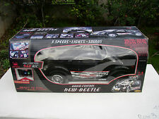 RARE 2001 NEW BRIGHT 9.6V RC 1:6 SCALE BLACK VW BEETLE NEW IN BOX READY TO RUN!