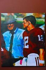 20x24 Canvas Print Alabama Bama Bear Bryant Kenny Stabler football picture paint