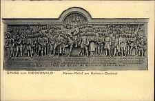 National-Denkmal NIEDERWALD bei Rüdesheim ~1900/10 Relief-Ansicht Verlag Suder