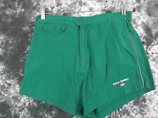 Mens M Polo Sport green VTG american flag spell out shorts