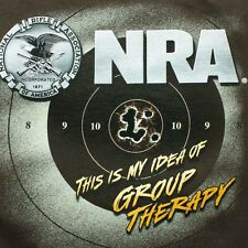 NRA Group Therapy Mens Large Gun Rifle Arms Target Practice National T Shirt
