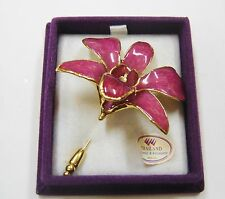 La Belle Collection 24K Gold Plated Hibiscus created with real flower  N541-Z