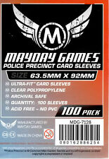 Mayday Games Police Precinct Ultra fit Card Sleeves (63.5 mm X 92mm) (100)