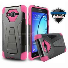 PINK FUSION ARMOR COVER PHONE CASE W/ KICKSTAND FOR SAMSUNG GALAXY LUNA 4G LTE