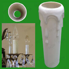 100x Drip Candle Wax Effect Chandelier Light Bulb Cover Tube Sleeve 80mm x 23mm