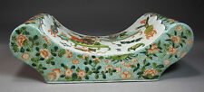 A Very Fine / Large Chinese Polychrome Enameled Ingot Shape Pillow
