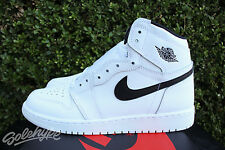 NIKE AIR JORDAN 1 RETRO HIGH OG GS SZ 7 Y WHITE BLACK YIN YANG 575441 102