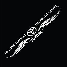 TOYOTA RACING STICKER STICKER VINYL DECAL VEHICLE CAR WALL 1 SET OF 2