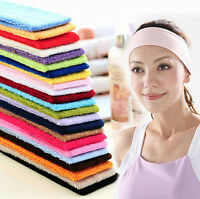 Women Yoga Sports Wash Face Makeup Towel Sweatband Headband Elastic Hair Band
