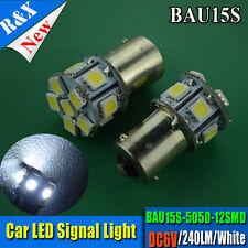10x 12SMD LED 360 Degree 1156 BAU15S White Backup Stop Light Bulb DC6V for TRUCK