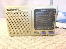 Vintage Portable Shortwave Radio Bell Howell FM MW SW 9 Band World Receiver