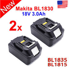 2X 18V 3.0Ah LITHIUM ION Battery For MAKITA BL1830 BL1835 BL1815 LXT400 194204-5