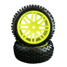 4Pcs HSP RC 1:10 Off-Road  Buggy Car Front +Rear Wheel Rim Rubber Tyre Tires  E