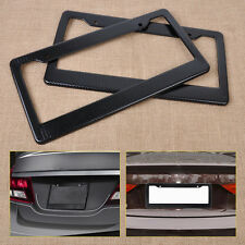 2pcs JDM Front Rear Carbon Fiber Look USA License Plate Frame Tag Cover Holder