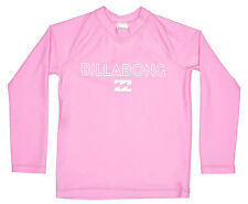"NEW + TAG BILLABONG GIRLS (4) WET SHIRT RASHIE RASH VEST ""OCEAN DAYZ"" PINK L/SLV"