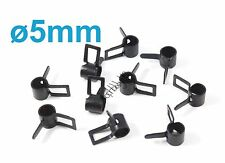 10pcs 5mm Metal Fuel Line Tube Clips Clamps, Black, US TH005-02301A