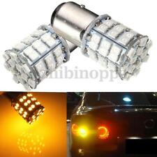 2X 1157 3528 Amber Yellow 54-SMD LED Front Turn Signal Light Car Tail Bulb Lamp