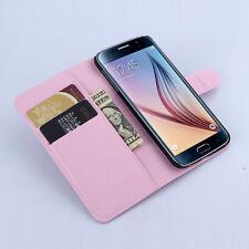 Handy Tasche für Samsung Galaxy S6 Cover Case Schutz Hülle Etui Schale rosa