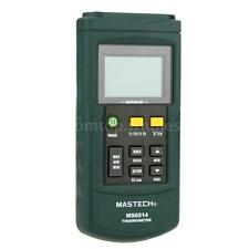 MASTECH MS6514 USB Dual-channel Digital Thermometer K/J/T/E/R/S/N Thermocouple