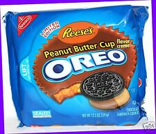 Nabisco Oreo REESE'S PEANUT BUTTER CUP Chocolate Cookies LIMITED EDITION 12.2 oz