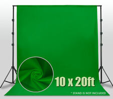 Photography Background 10ft x 20ft Chromakey Green Screen Muslin Backdrop Photo