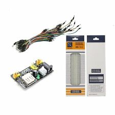 MB102 Power Module 3.3V/5V+MB-102 BreadBoard 830 Points PCB+65PCS Jumper Cable