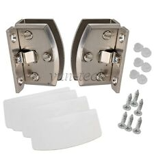 Glass Door Clamp Hinge Side Mount 90C Opening DIY for 8-10mm Glass Thickness