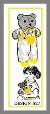 Mail Order Teddy Bear W / Clothes Toy Bear  Fabric Material sewing pattern #827