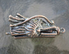 Copper plated Dragon Head Pinch On and Off with Bar style clasp, (P01C)