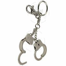 Silver Mini Handcuffs Key Chain Ring Hand Irons Cuffs Wrist Restraints