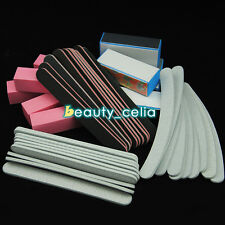 40PC Nail Art Tips Sanding Files Buffer Block Manicure Tools UV Gel Set Kit