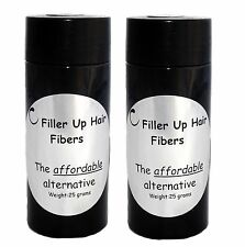 MEDIUM BROWN Filler Up Hair  Fibers 2-25 g Bottles LOW COST SUBSTITUTE USA SELL