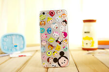 New Cute Cartoon Crystal Clear TPU Soft Case Cover for iPhone 5S 6S 6SPlus