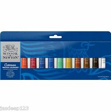 Winsor Newton aquarelle 12 x 8ml tube set artiste art peintures étudiants Cotman