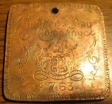 """1763 Hudson Bay Co. 1 Bale of Made Beaver Pelts Fur Trade Medal or """"Trinket"""""""
